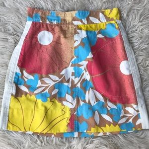 Tracy Feith for Target Floral Cotton Mini Skirt